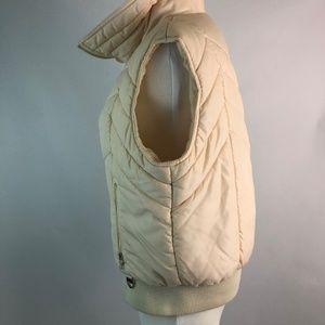 Skyr Jackets & Coats - Skyr L Large Womens Vest Puffer Cream Zipper